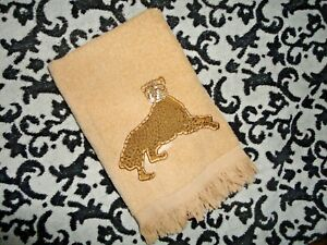 AVANTI SAFARI CHEETAH RATTAN ANIMAL BLACK (1) FINGERTIP TOWEL 12 X 16