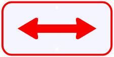 3M Reflective Red 2 Way Arrow Parking Plaque Sign Dot Municipal Grade 12 x 6