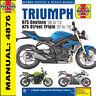Triumph 675 Daytona 675 Street Triple R 2006 - 2016 Haynes Manual 4876 NEW