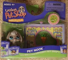 Littlest Pet Shop Display & Play Pet Nook & Gray Rabbit #346 Hard to find
