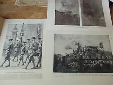 ILLUSTRATION 1914 3736 GUERRE SCOTT POINCARE REIMS Belgique ANVERS SEMLIN DE MUN