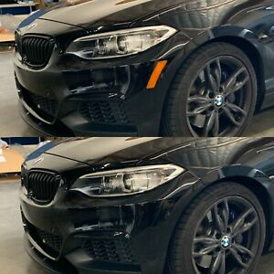 BMW 2 Series Coupe F22 Front Bumper Reflector Overlay SMOKE