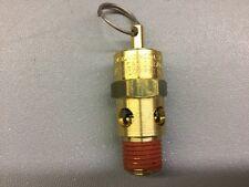 "CD BRASS PRESSURE VALVE MODEL ST25 1A100, 1/4"" NPT, 100 PSI, #45MG93"