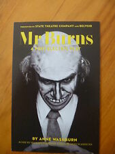 POSTCARD / PROMOTION CARD.MR.BURNS A POST-ELECTRIC PLAY  ANNE WASHBURN..SIMPSONS
