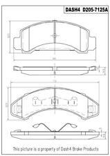 Disc Brake Pad Set-Ceramic Pads Front Pronto PCD205
