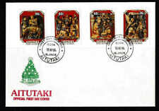 Aitutaki 1984 Christmas Complete Set Of Four Stamps FDC  - Mint