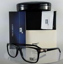 New Authentic MONT Blanc Eyeglasses MB 532 001 Black Gold Frame 58mm 532