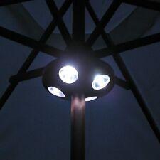 16 Led Parasol Garden Light Table Gazebo Outdoor Summer Lamp Battery 32mm-48mm