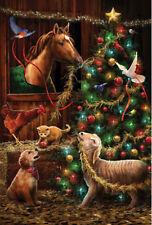 Garden Flag, Christmas Tree, Barn, Horse, Puppy, Goat, Dove, Rooster, Kitten