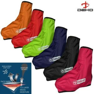 Deko Cycling Shoe Cover Waterproof HI VIS Bicycle Overshoe Water Resistant