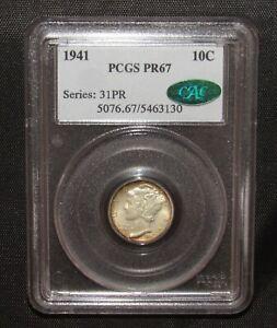 1941 Mercury Dime Proof PCGS PR67 CAC