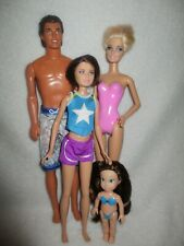 Barbie type dolls Family Swimming Bundle