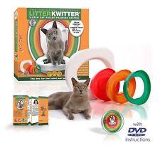 Litter Kwitter Cat Toilet Training System Train Cat Kitten Use Toilet (Genuine)