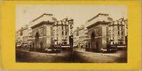 Francia Parigi Porta Saint-Martin Foto Stereo P8L2n Vintage Albumina Ca 1865