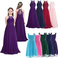 Flower Girls Kid Princess Bridesmaid Long Dresses Wedding Formal Party Prom Gown