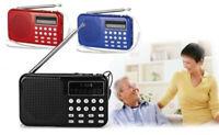 Portable mini FM radio TF card Mp3 Player digital speaker For Older Parent GB