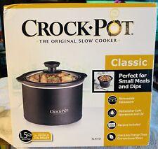 NEW in Box Crock Pot SCR151 1-1/2-Quart Round Manual Slow Cooker  Black