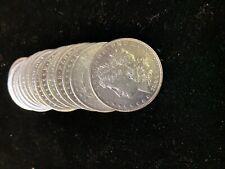 (10) XF/AU 1878-1904 Morgan Silver Dollar 1/2 Roll Lot 90% Collection Pre-1921