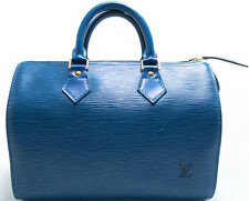 Louis Vuitton EPI Speedy 25 Tasche Bag Boston Elegant Blue Blau Bleu SUPER ZSTD