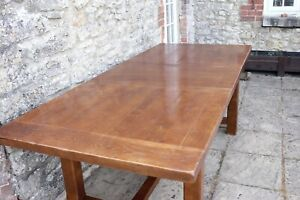 Fablulous Rustic Plank Top Solid Oak French Farmhouse Refectory Table