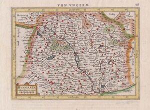 1628 Fine Mercator Map of Hungary