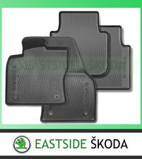 NEW GENUINE SKODA KODIAQ FRONT AND SECOND ROW RUBBER MATS 2017 ON SET OF 4