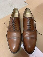 Salvatore Ferragamo Men's Brown Leather Cap Toe Oxford Shoes Size 11.5 D