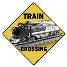 Train Crossing Sign NEW 12X12 Metal Railroad Xing