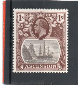 Ascension GV  1924-33  1s. grey-black & brown sg 18 VLH.Mint