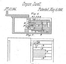 Old, antique reed organ, melodeon, harmonium..: histor. documents -1870