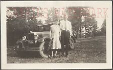 Vintage Car Photo Man & Pretty Girl w/ 1928 Chevrolet Chevy Automobile 755764