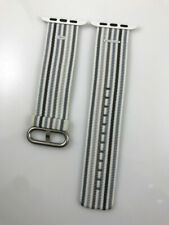 Original Apple Watch Woven NYLON Band silver buckle 42MM 44MM strap Gray stripe