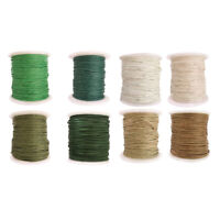 8 Rolls of 80 Meters Waxed Cotton Cord String for Jewelry Making DIY Craft