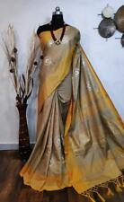 Designer Sari Bollywood Sari Indian Wear Women's Special Wear jute silk I 2-2