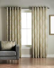 One Pair Of JEFF BANKS Modern Contemporary Design Cyrus Eyelet Lined Curtains