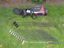 Lot de Spalding Pro réponse Aldila Graphite Shaft Golf Clubs & Sac de transport