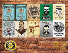 0Job Lot 10 X Métal Tin Signe Plaque Murale Style Vintage Barber Shop Signes #2