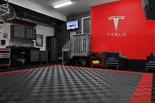 "Tesla Letters and Logo Sign 3' wide  39"" tall Brushed Silver"