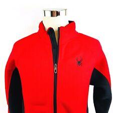 Spyder Core Pullover Reißverschluss Sherpa Softshell Strick Jacke Rot Herren L