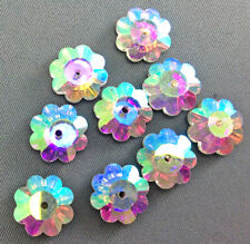 Crystal AB Foiled Faceted Marguerite Flower Spacer Bead Chinese Crystal 12mm Q10