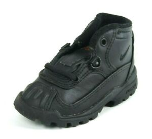 Nike Baby Nestuca Boot ACG Leather Toddler Shoes Black 850374 003 Vintage DS