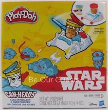 Star Wars Play Doh Can Heads Luke SKywalker Snow Trooper New