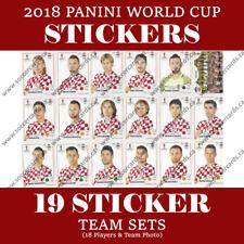 2018 PANINI WORLD CUP CROATIA STICKER TEAM SET (19 STICKERS) SHIPS FROM USA