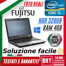 """*PC NOTEBOOK PORTATILE FUJITSU LIFEBOOK S781 14"""" CPU i5 4GB RAM 320GB HDD +WIN10"""