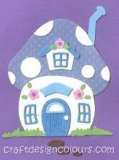 DIE CUT - 1 X MUSHROOM HOUSE (KIT)  BLUE