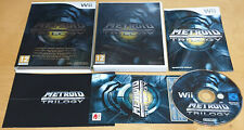 METROID PRIME TRILOGY COLLECTOR'S for NINTENDO Wii COMPLETE IN NR MINT CONDITION