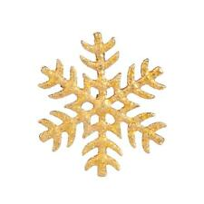 Lux Accessories Frozen Glitter Snow Flake Xmas Christmas Snowflake Brooch Pin