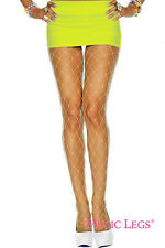 Wide Diamond Net Fishnet Spandex Pantyhose Neon Candy Colors Punk Goth Tights