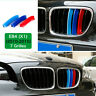 For BMW X1 E84 09-15 M-Sport 7 Bars Kidney Grill Grille 3 Color Cover Clips Deco