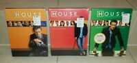 Lot of 3 HOUSE DVD Sets TV Show New Sealed Season 2 (Two), 3 (Three) & 4 (Four)